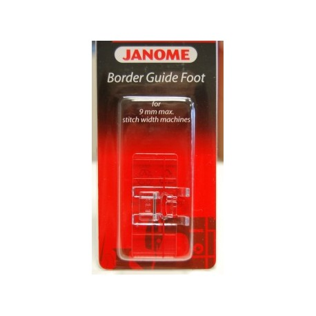 Pied guide bordeur Janome 9 mm 202084000