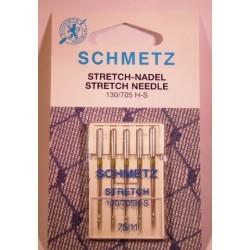 5 aiguilles stretch 75 Schmetz