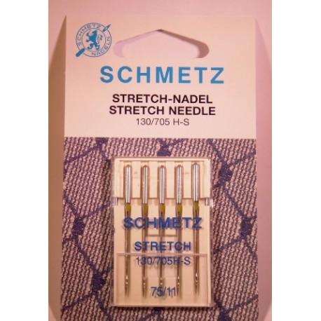 5 aiguilles stretch 75 schmetz pour toutes les machines - Machine a coudre stretch ...