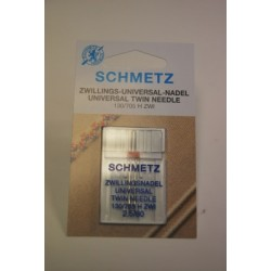 1 aiguille double 2,5 mm Schmetz