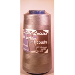 Cône 2743 m polyester gris 6230-170 couture & surfilage