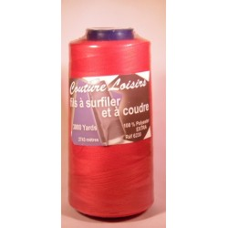 Cône 2743 m polyester rouge 6230-113 couture & surfilage