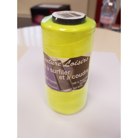 Cône 2743 m polyester 6230-200 jaune fluo Couture & Surfilage