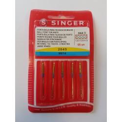 PAQUET 5 AIGUILLES SINGER STRETCH 90