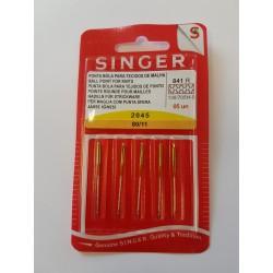 PAQUET 5 AIGUILLES SINGER STRETCH 80