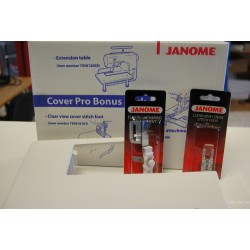 Pack table + guide + pied Janome Cover Pro 796401003