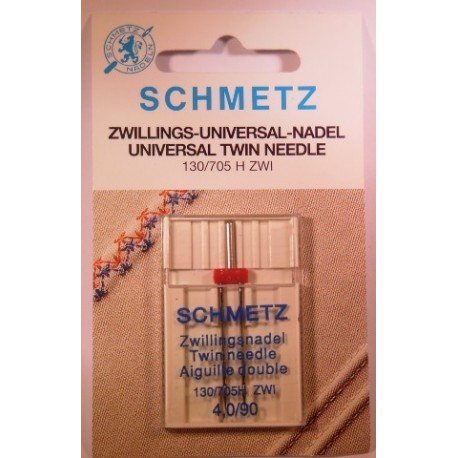 1 aiguille double 4 mm Schmetz