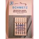 5 aiguilles Microtex 60/70/80 Schmetz