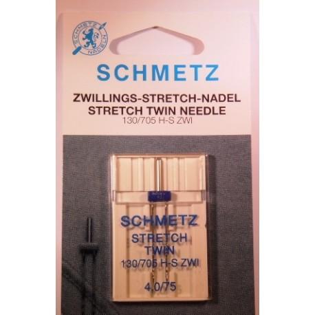 1 aiguille double stretch 4 mm Schmetz
