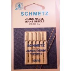 5 aiguilles jeans 100 Schmetz