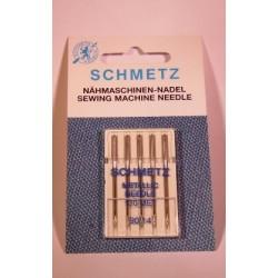 5 aiguilles fil métal 90 Schmetz