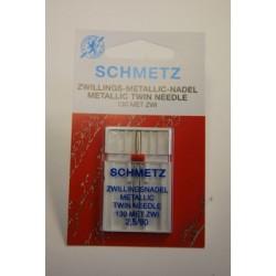 1 aiguille double métal 2,5 mm Schmetz