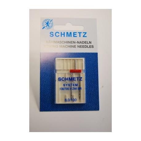 1 aiguille double 8 mm Schmetz