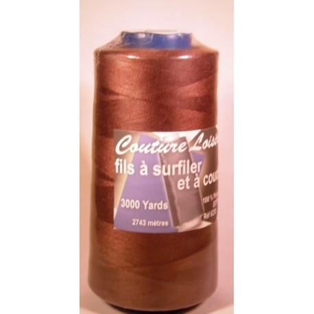 Cône 2743 m polyester brun foncé 6230-160 couture & surfilage