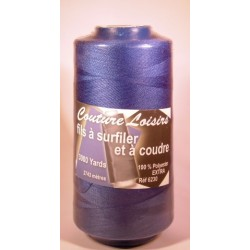 Cône 2743 m polyester bleu 6230-145 couture & surfilage