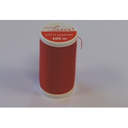 BOBINE 100 M FIL A COUTURE POLYESTER ROUGE